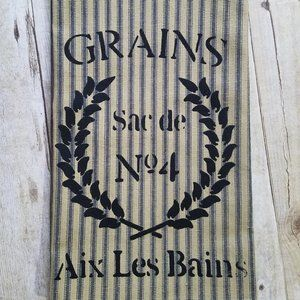 French Country Ticking  Kitchen Towel